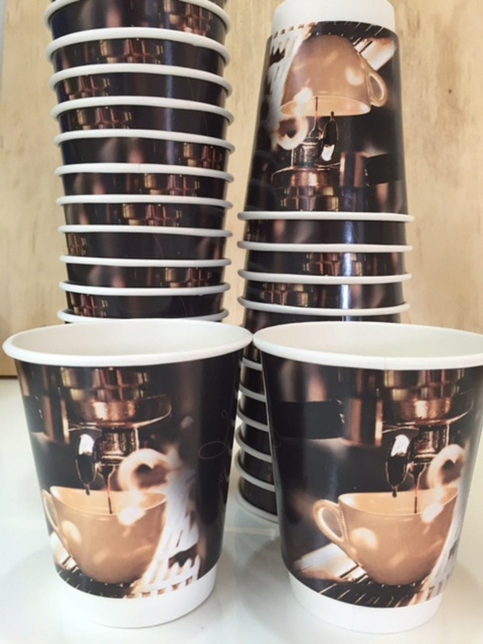 Double wall cup 8oz cafe' print