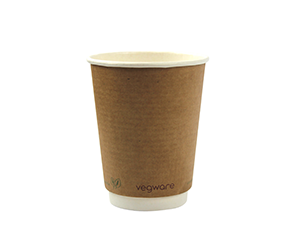 Double wall kraft eco friendly Compostable coffee cup  12 oz
