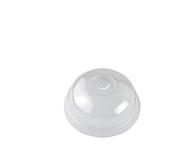 76mm PLA dome lid, c hole (fits slim cups)
