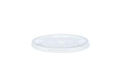 96mm PLA flat lid, straw-slot (fits standard cup)