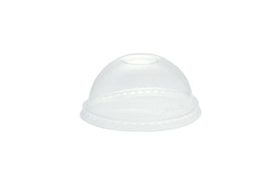 96mm PLA dome lid, straw hole (fits standard cup)