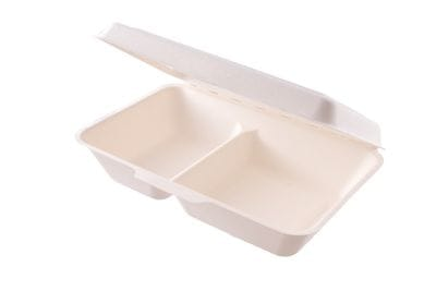 9 x 6in 2 compartment meal box