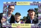 With the Hon Dominic Perrottet MP, Minister for Finance & Services at the 2015 Hawkesbury Relay for Life