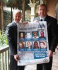 Kevin with the Hon Troy Grant MP, Minister for Police at the launch of Missing Persons Week.
