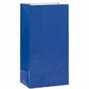12 Paper Bags Navy Blue