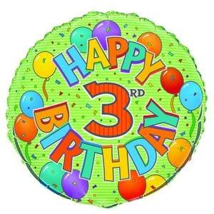 "3rd Birthday 18"" Foil Balloon"