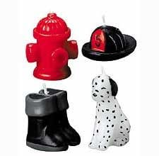 4 Piece Firefighting Candle Set