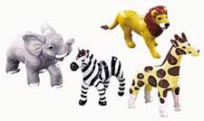 4 Piece Jungle Animal Topper