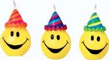 6 Piece Smiley Faces Candle Set