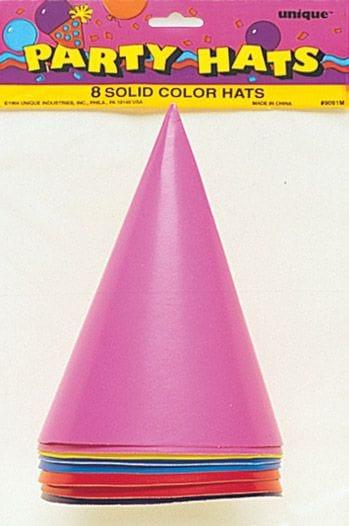 8 Party Hats - Multicolour
