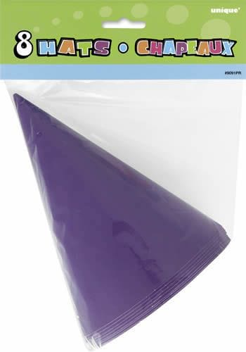 8 Party Hats - Purple