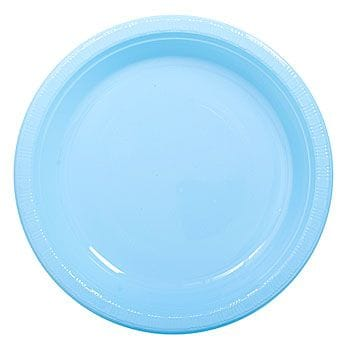 "Baby Blue 12 x 7"" Plastic Plates"