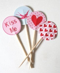 Baked With Love Cake Toppers 48 Piece