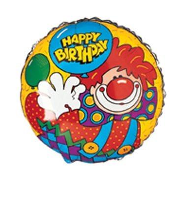 "Birthday Clown 18"" Foil Balloon"