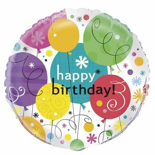 "Breezy Birthday 18"" Foil"