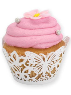 Butterfly Cupcake Wrap White 12 Pack