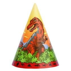 Dino Times Party Hats 8 Pack