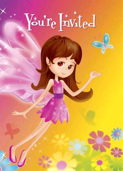 Fairy Whimsy Invitations 8 Pack