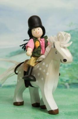 Grey Horse with Saddle