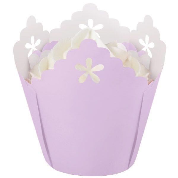 Lavender Flower Eyelet  Cup