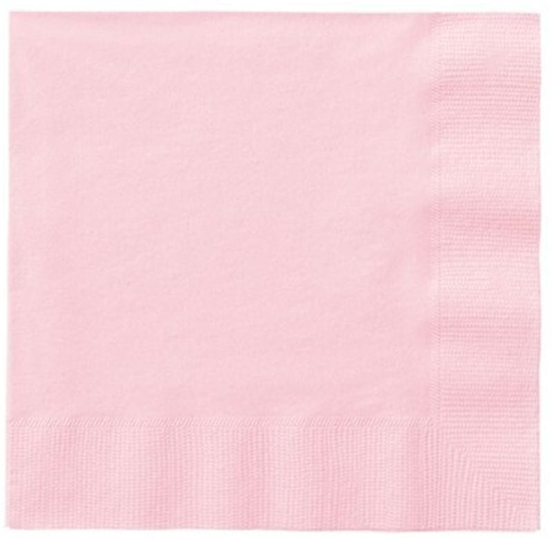 Pastel Pink 20 Lunch Napkins