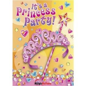 Pretty Princess Invitations 8 Pack