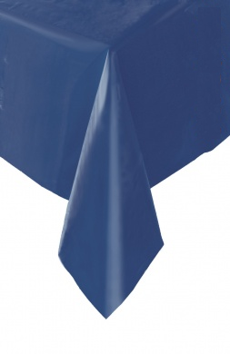 Plastic Table Cloth Rectangle - Navy Blue