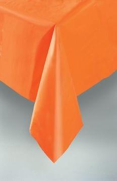 Plastic Table Cloth Rectangle - Orange