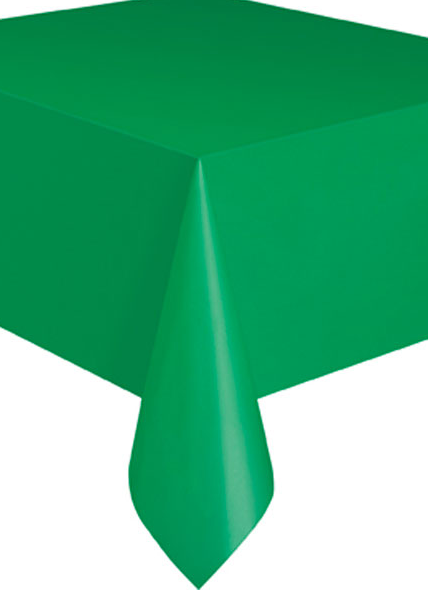 Plastic Table Cloth Rectangle - Emerald Green