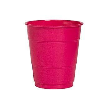 Hot Pink 12x9 oz Plastic Cups