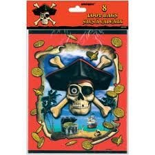 Pirate Bounty Loot Bags 8 PK