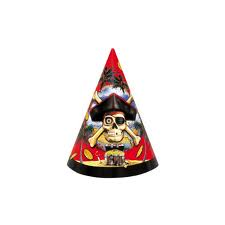 Pirate Bounty Party Hats 8 pk