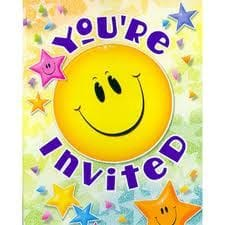 Smiley Stars Invitations