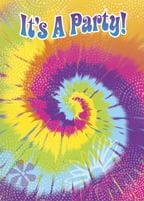 Tye Dye Invitations 8 pk