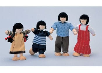 PlanToys - Asian Doll Family - 4 pieces
