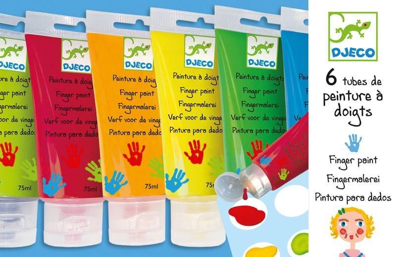 Djeco - Finger Paint tubes