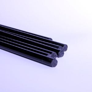 6mm x 1M Long Acrylic BLACK rod Solid Rod. Extruded