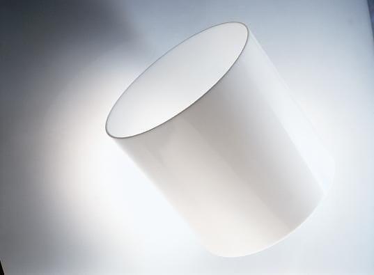 Acrylic Opal White Tube OD40mm x 2mm x 1M long Opal Tube.