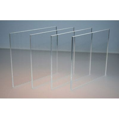 Pack of 5 A4 size Acrylic Clear CAST 210 x 297 x 3mm Cast Sheet.Crystal Clear