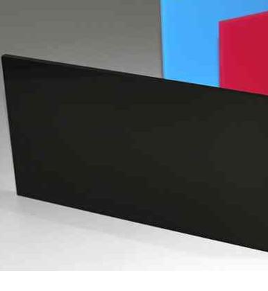 A4 Acrylic Gloss Black 210x297x2mm CAST Black SHEET UV Stable Plastic Sheet