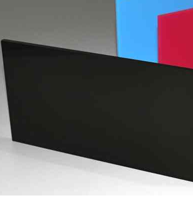 A4 Acrylic Gloss Black 210x297x2mm CAST Black SHEET UV Stable Plastic Sheet