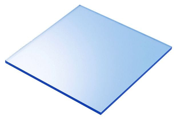 A4 Acrylic Fluorescent Blue 210x297x3mm CAST SHEET UV Stable Plastic  Neon Blue Protective Film