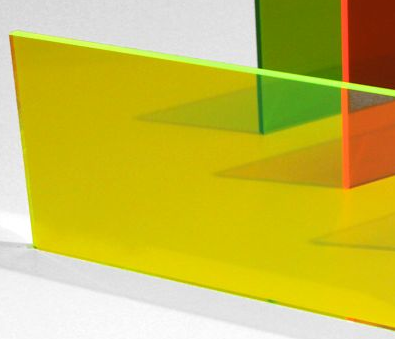 Acrylic Fluorescent Green 300x600x3mm Neon Green CAST Sheet UV Resist