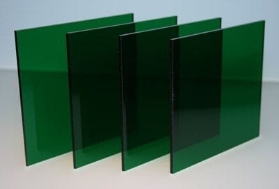 Acrylic A4 210 x 297 x 3mm Transparent Green CAST Sheet Green Tint