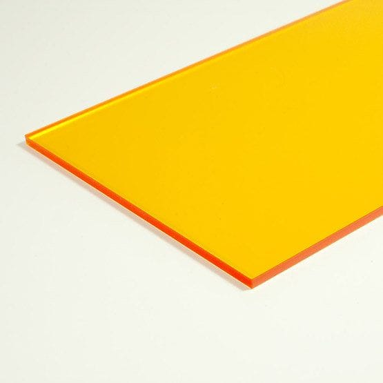 Acrylic A4 210 x 297 x 3mm Transparent Amber CAST Sheet Tint