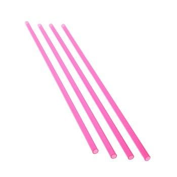 ACRYLIC Transparent Pink Tube OD 30 x 2mm x 1000mm