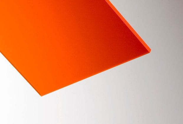 Acrylic Fluorescent Orange Sheet 610x610x3mm