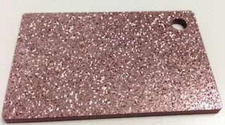 Acrylic Dark Pink Glitter Sheet 300 x 600 x 3mm