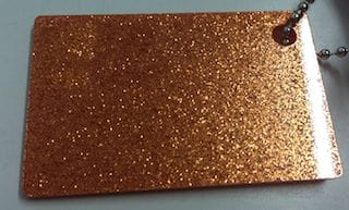Acrylic Orange Glitter Sheet 300 x 600 x 3mm