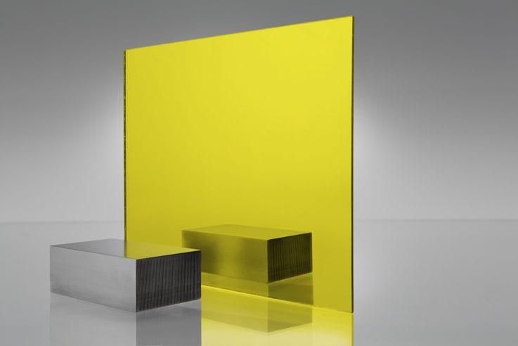 EuroMir Acrylic Yellow Mirror Sheet 2030 x 1525 x 3mm